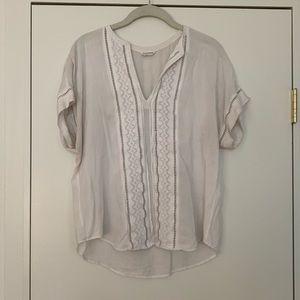 Club Monaco white short sleeved blouse